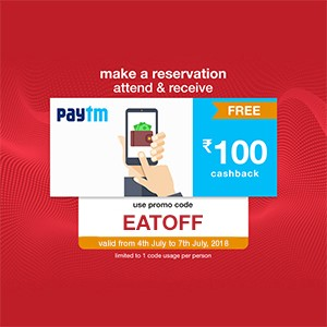 Get ₹100 Paytm voucher on your reservation from 4-7 Julyl!!