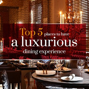 Luxurious dining experience..!