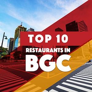 Top 10 restaurants in BGC!