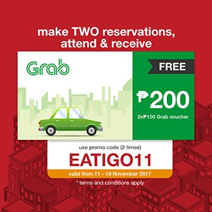 Claim your FREE P200 Grab voucher today!