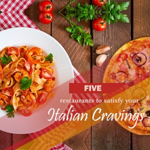 Top 5 restaurants to slog on pizzas and pastas..!