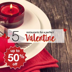 5 restaurants for a perfect Valentine date!
