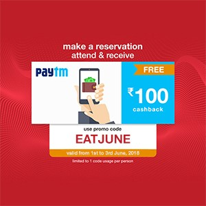 Get ₹100 Paytm voucher on your reservation from 01-03 Junel!!