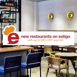 New restaurants on eatigo!