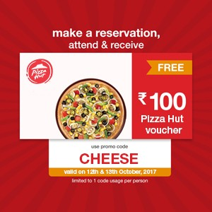 Reserve now! Free Pizza Hut voucher worth ₹100!!