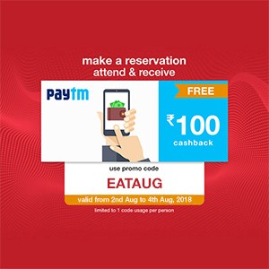 Get ₹100 Paytm voucher on your reservation from 2-4 August!!