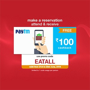 Get ₹100 Paytm voucher on your reservation from 21-23 Junel!!