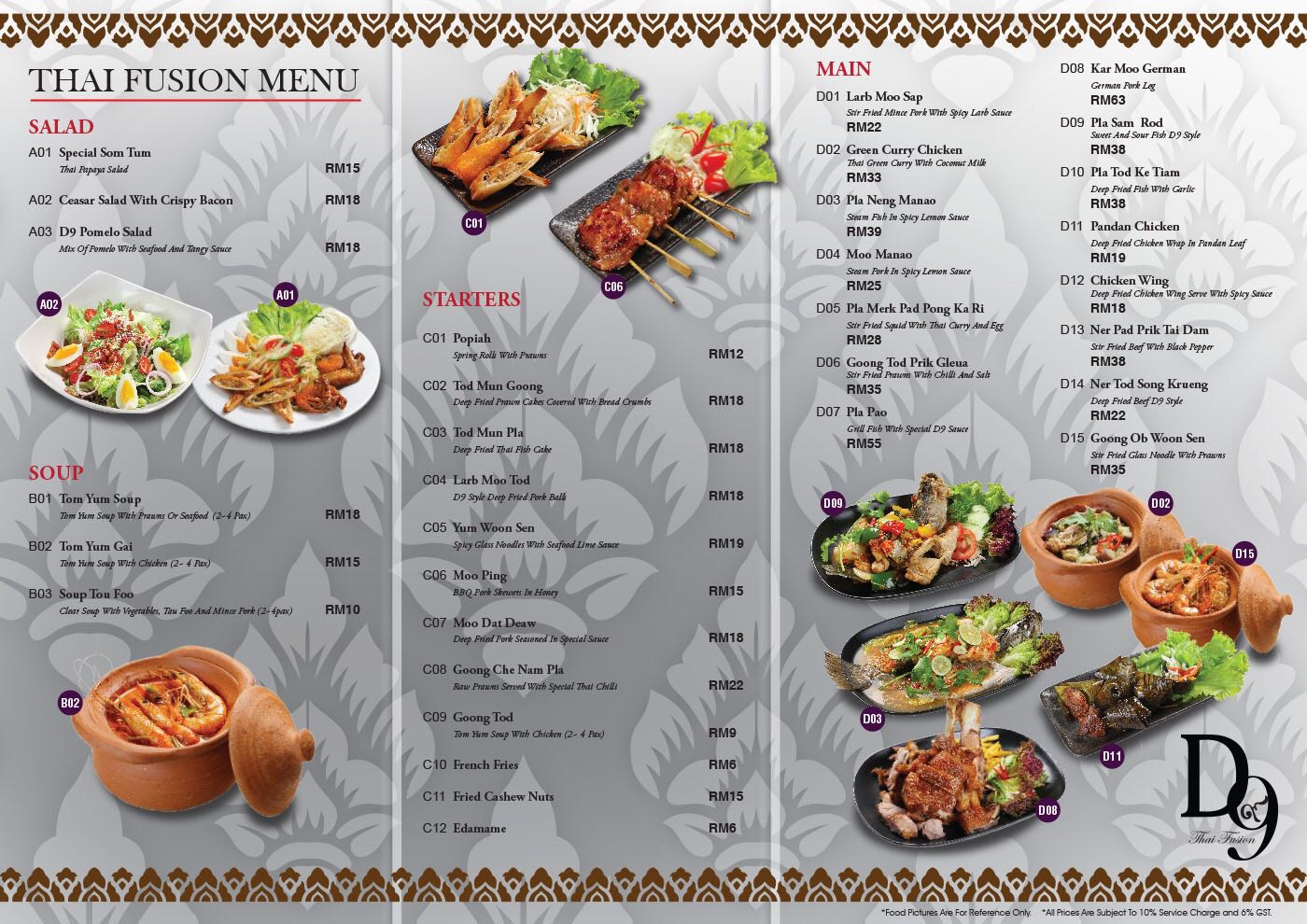 D9 Thai Fusion Restaurant At Sunway Giza Mall Discounts Up To 50