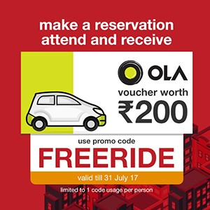 Free Ola voucher worth ₹200 when you reserve now!