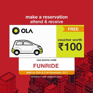 Get Ola voucher worth ₹100, FREE!