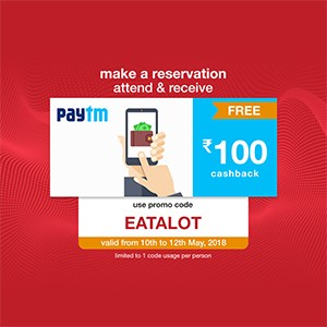 Get ₹100 Paytm voucher on your reservation from 10th to 12th May!!