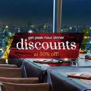 10 places with 50% off dinner
