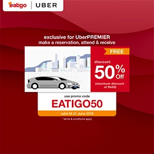 A smooth Uber ride to a great dining experience on Eatigo!