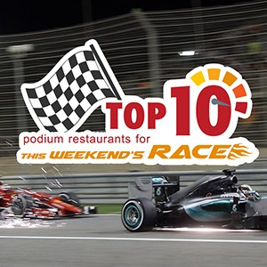 The top 10 podium restaurants for this weekend's race