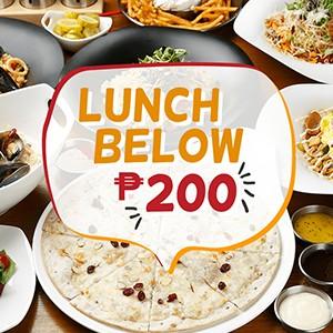 Lunch Below P200