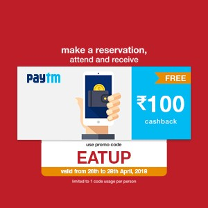 Get ₹100 Paytm voucher on your reservation from 26th to 28th April!!