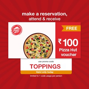 ₹100 PizzaHut Voucher on your way
