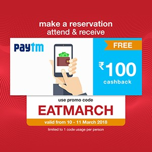 Get ₹100 Paytm cash on your reservation on 10th and 11th March 2018!!